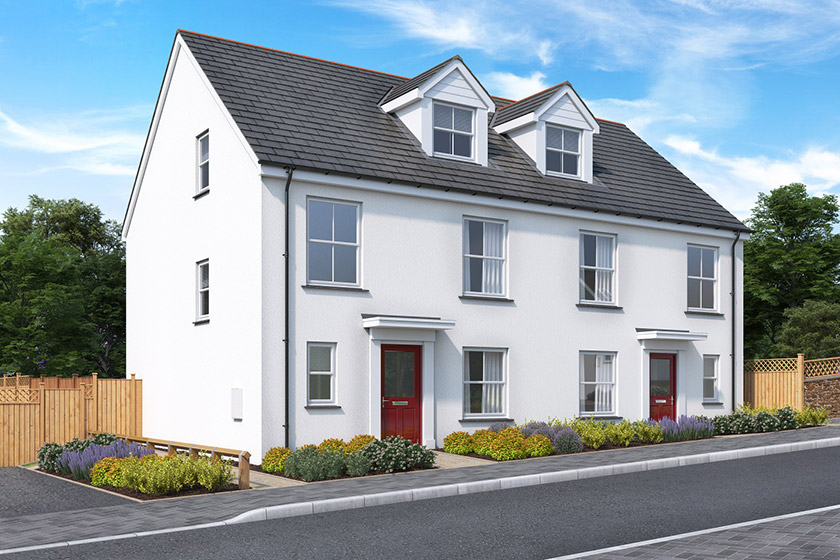 Beautiful new build home at the popular Copper Gate development in Cornwall