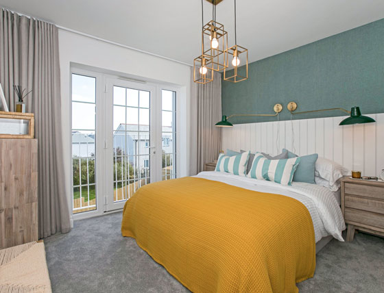 Show room bedroom at Hawkers Reach, Padstow