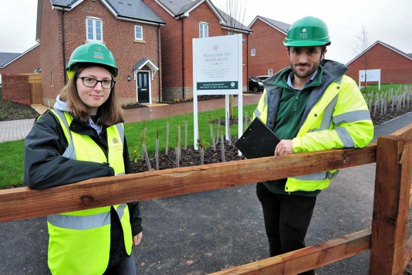 A picture of Apprentice Nyah swaps office for building site