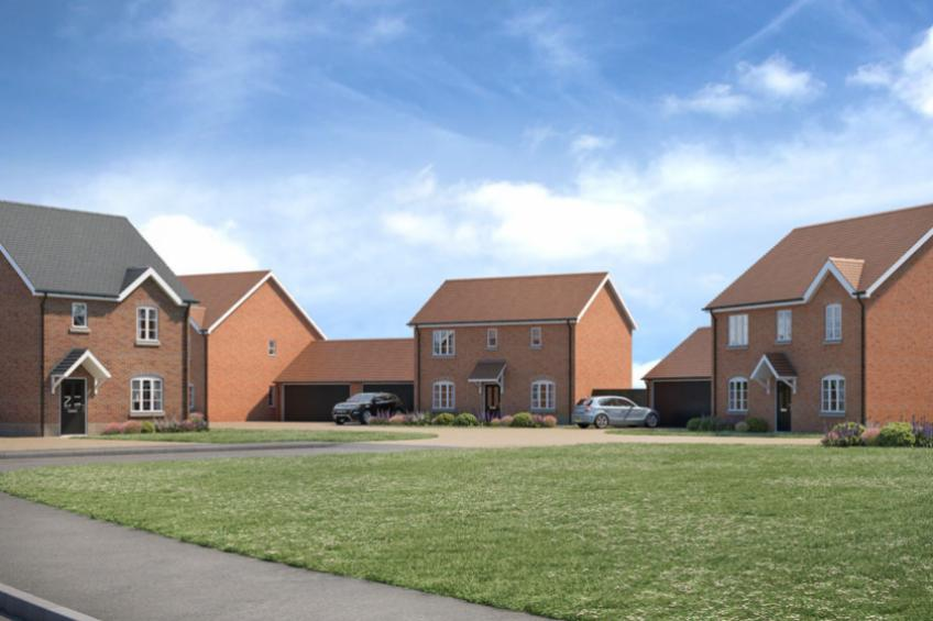 A picture of First homes reserved at Stoke Lacy development