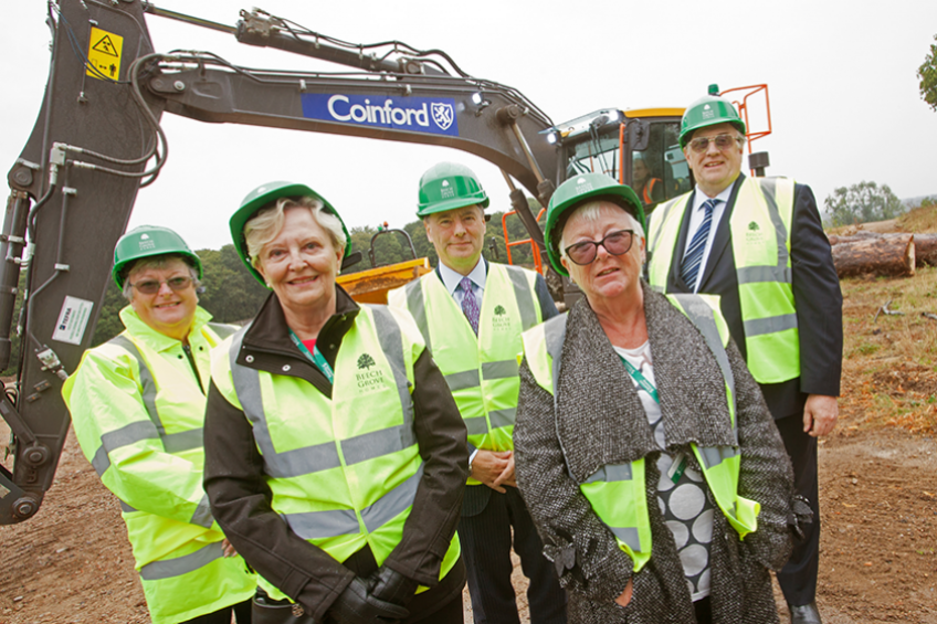 A picture of Councillors view new housing development