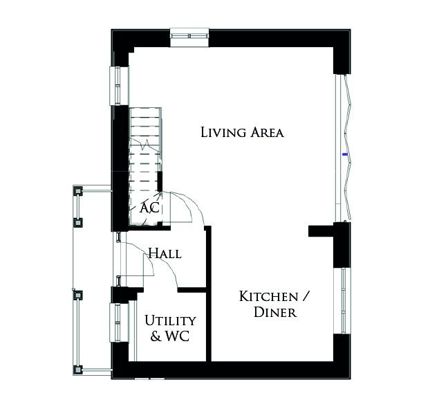 Ground floor plan for The Shearwater