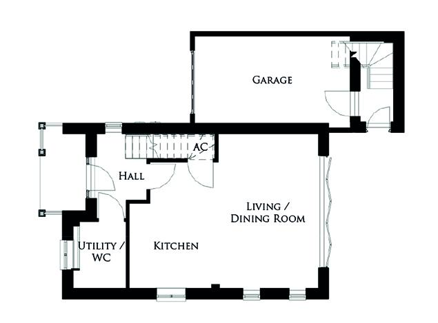 Ground floor plan for The Turnstone 2