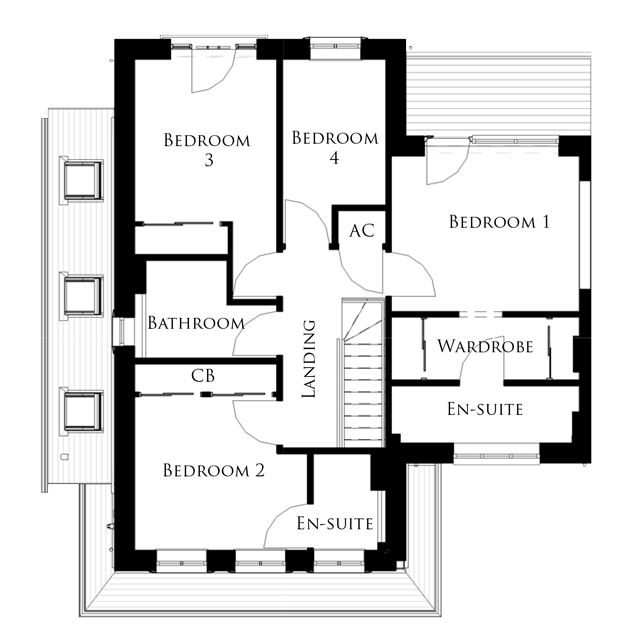 The Osprey first floor floor-plan