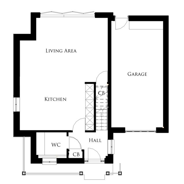 The Osprey ground floor floor-plan