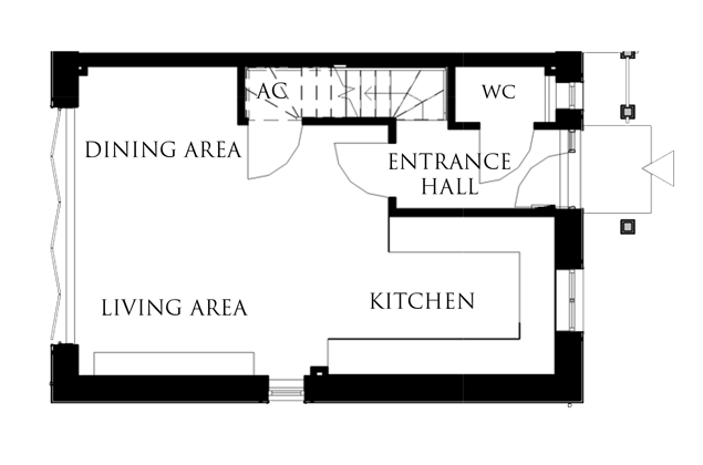 The Peregrine ground floor floor-plan