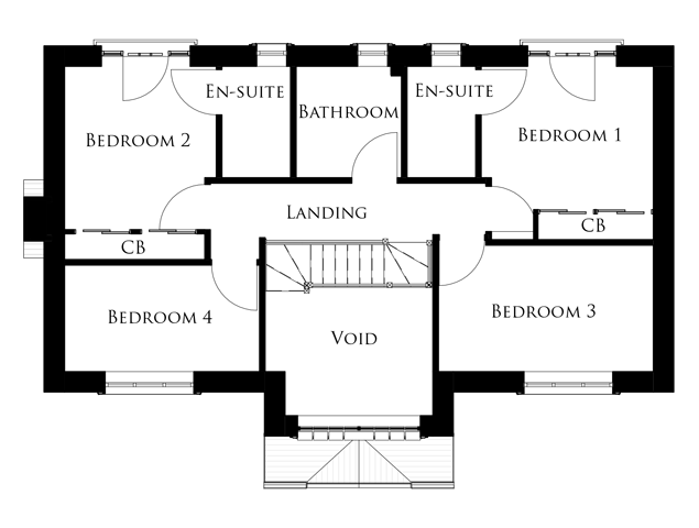 The Skylark first floor floor-plan