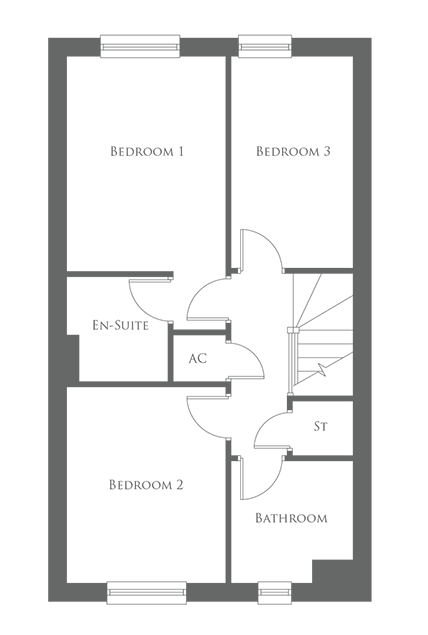 The Eastnor type - First floor layout
