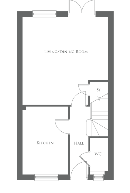 The Eastnor type - Ground floor layout