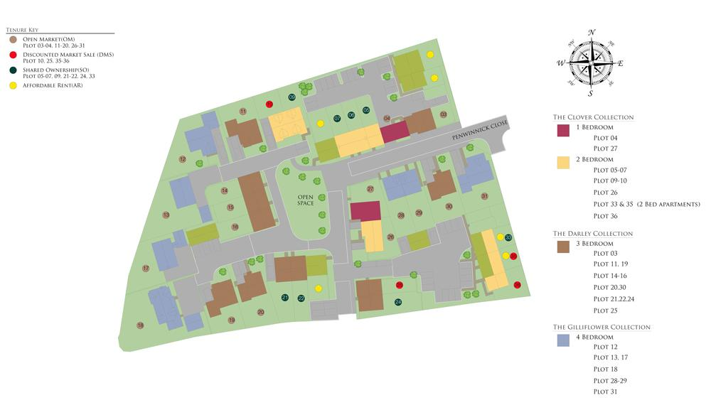 Site plan of our Copper Gate development