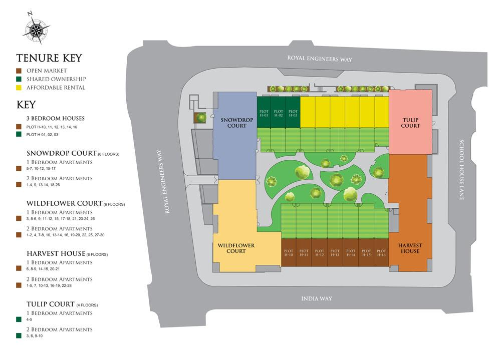 Site Plan for Millbrook Square
