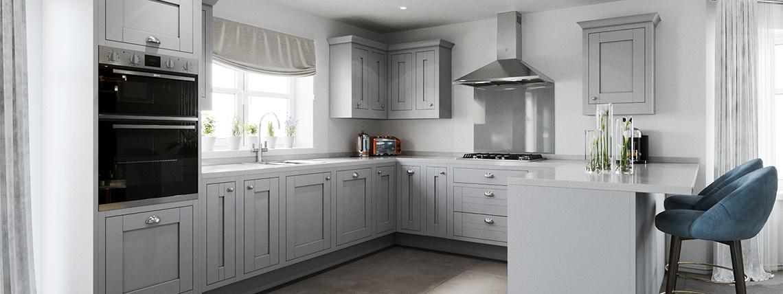 Example interior of a kitchen at the Bullwood Gardens development