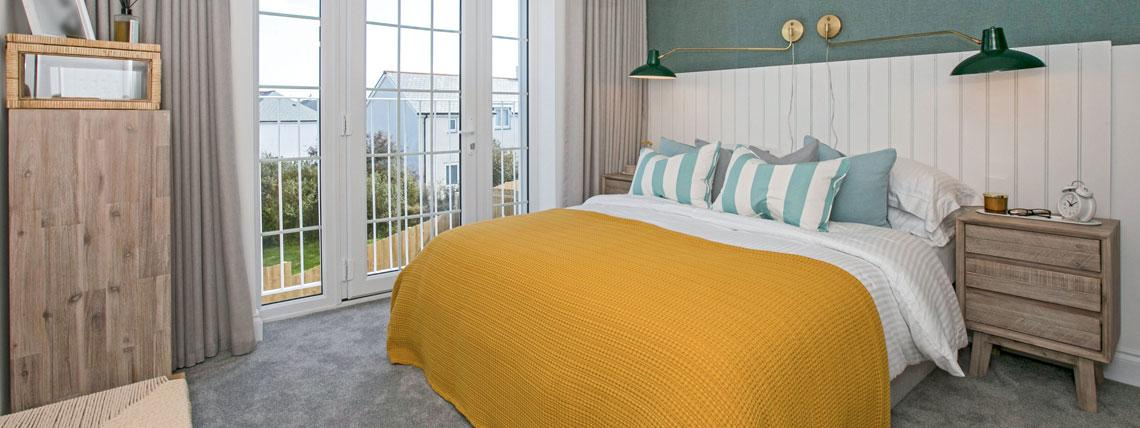 Hawkers Reach show home bedroom