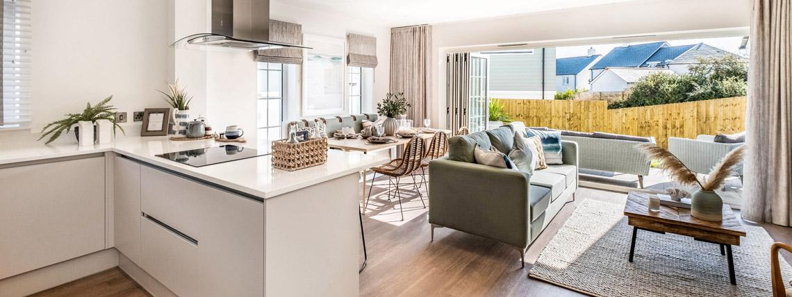 Hawkers Reach show home living area
