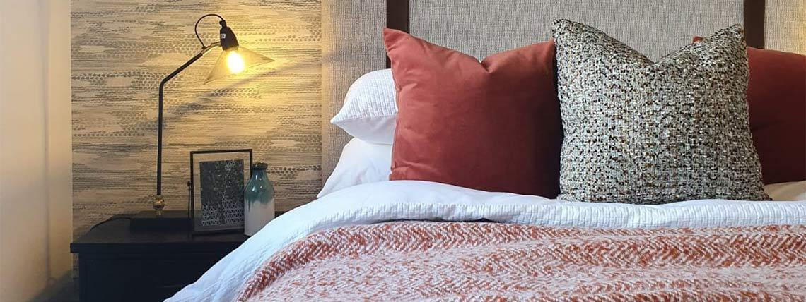Example interior of the bedroom at the Orchardside development