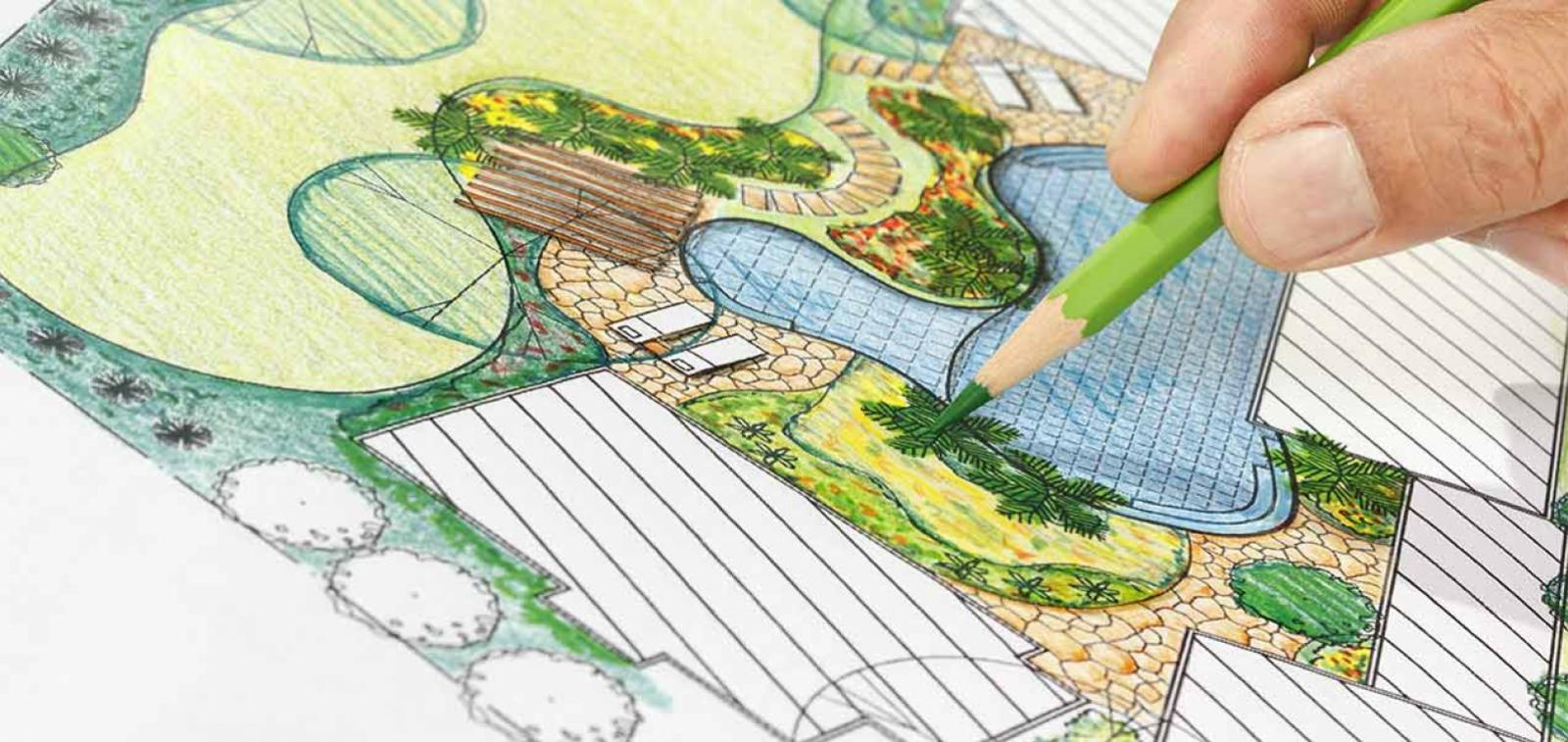 Landscape architecture plan