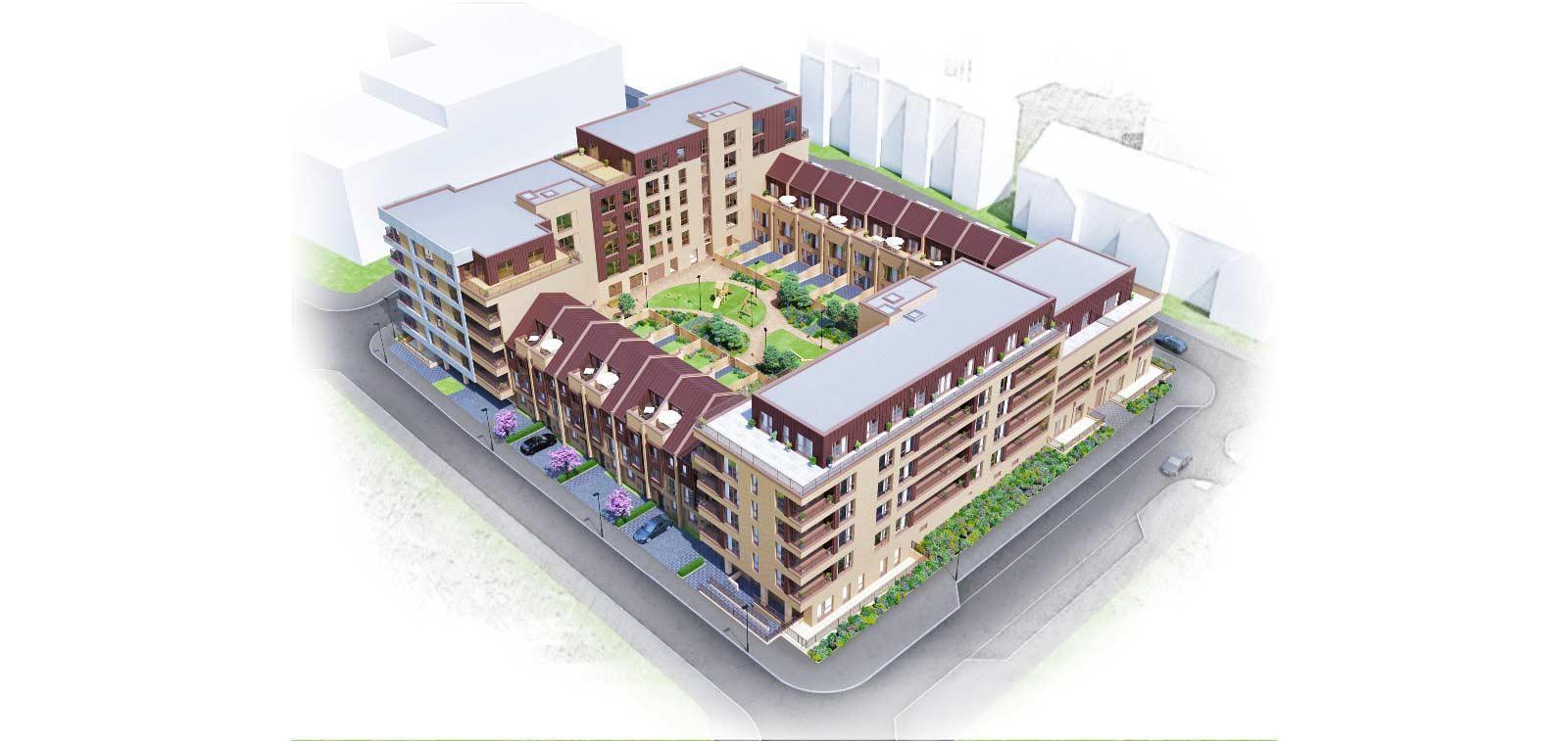 CGI representation of the Millbrook Square development