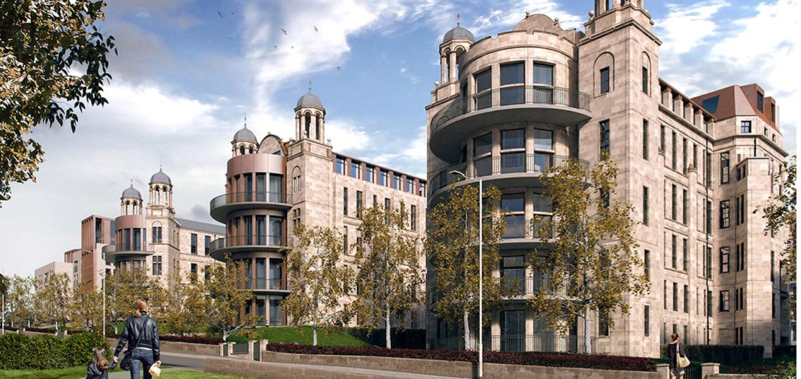 CGI of The Victoria development in Glasgow.